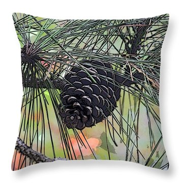 Throw Pillow featuring the photograph Pinecone by Donna  Smith