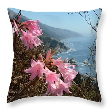 Pink Amaryllis Throw Pillow