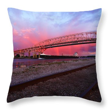 Throw Pillow featuring the photograph Pink And Blue by Gordon Dean II
