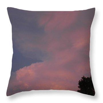 Pink And Blue Sky Throw Pillow by LeeAnn McLaneGoetz McLaneGoetzStudioLLCcom