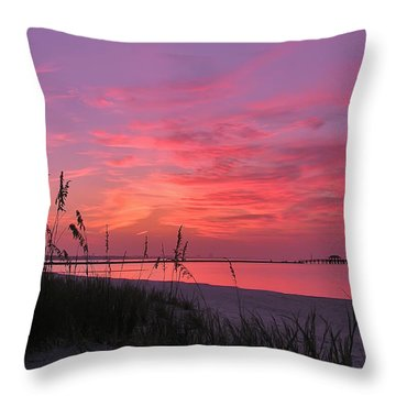 Pink And Purple Dawn Throw Pillow by Brian Wright