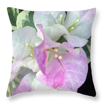 Pink And White Surprise Throw Pillow