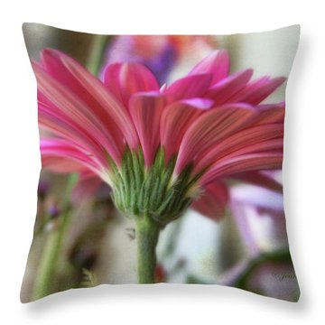 Throw Pillow featuring the photograph Pink Beauty by Joan Bertucci