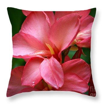 Pink Canna Throw Pillow
