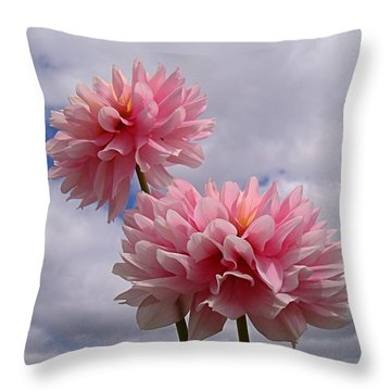 Pink Dahlia Throw Pillow by Nick Kloepping