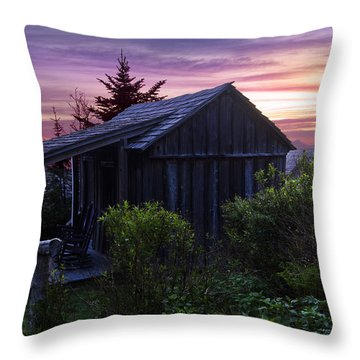 Pink Dawn Throw Pillow by Debra and Dave Vanderlaan
