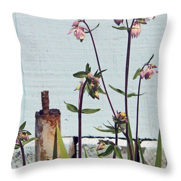 Pink Doves Throw Pillow by Pamela Patch
