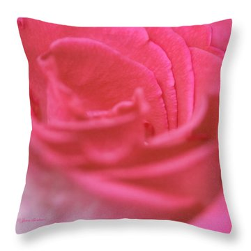 Throw Pillow featuring the photograph Pink Edges by Joan Bertucci