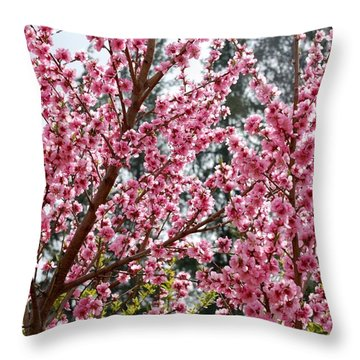 Throw Pillow featuring the photograph Pink Flood by Fotosas Photography