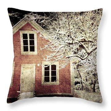 Pink House Throw Pillow