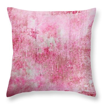 Pink Lady Throw Pillow by Christopher Gaston