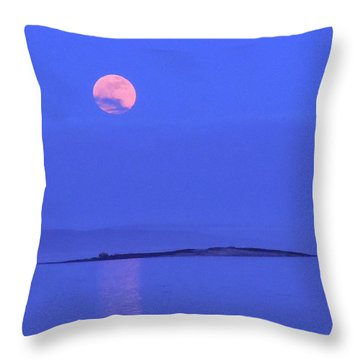 Throw Pillow featuring the photograph Pink May Moon by Francine Frank