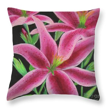 Throw Pillow featuring the painting Pink Paradise by Kristi Roberts