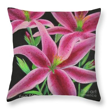Pink Paradise Throw Pillow