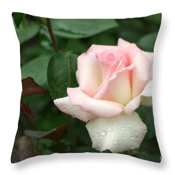 Throw Pillow featuring the photograph Pink Promise by Living Color Photography Lorraine Lynch