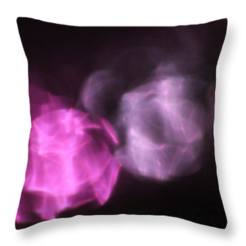 Pink Reflection Throw Pillow