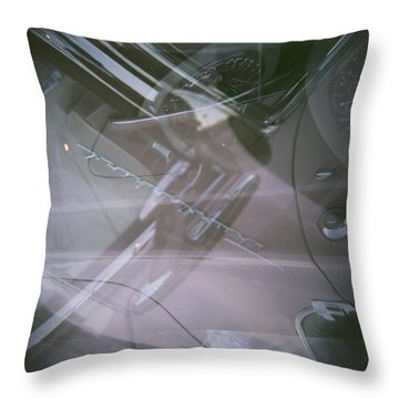 Pink Retro Angle Attack Throw Pillow