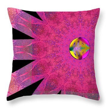 Throw Pillow featuring the digital art Pink Ribbon Of Hope by Alec Drake
