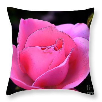 Throw Pillow featuring the photograph Pink Rose Day by Clayton Bruster