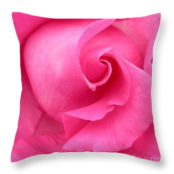 Pink Rose Throw Pillow by Mark Gilman