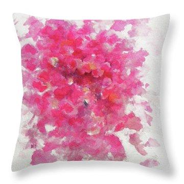 Pink Rose Throw Pillow by Rachel Christine Nowicki