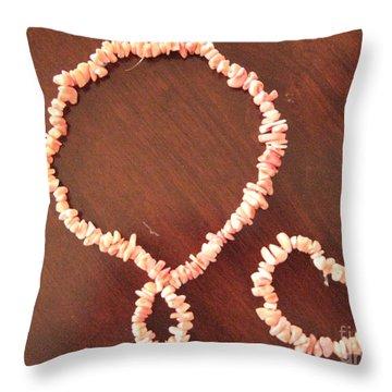 Pink Stone Necklace Bracelet Throw Pillow by Sonali Gangane