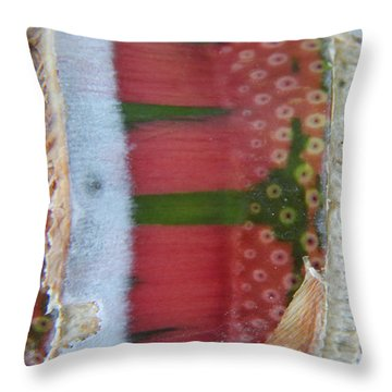 Pink Sugarcane 3 Throw Pillow