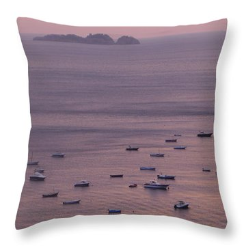 Pink Water Throw Pillow by Nora Boghossian