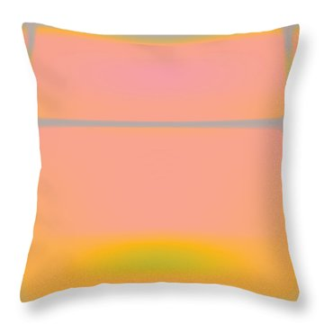 Pink Yellow And Grey Throw Pillow by Gary Grayson