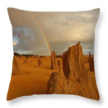 Pinnacle Rainbow Throw Pillow