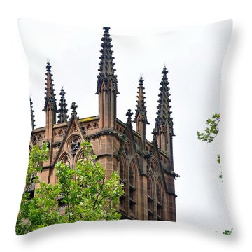 Pinnacles Of St. Mary's Cathedral - Sydney Throw Pillow by Kaye Menner
