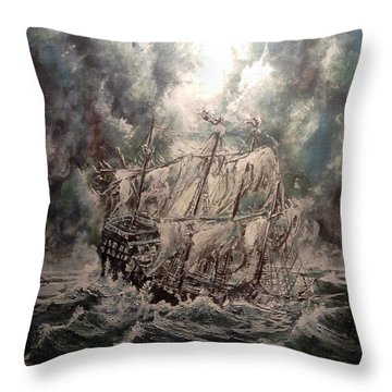 Pirate Islands 2 Throw Pillow by Robert Tarrant