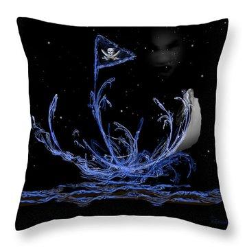 Pirate Ship Throw Pillow by EricaMaxine  Price