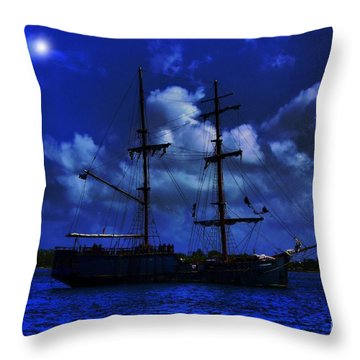Pirate's Blue Sea Throw Pillow