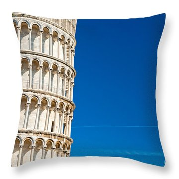 Throw Pillow featuring the photograph Pisa Leaning Tower by Luciano Mortula