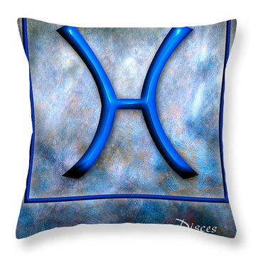 Pisces  Throw Pillow by Mauro Celotti