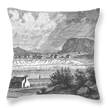 Pittsburgh, 1790 Throw Pillow by Granger