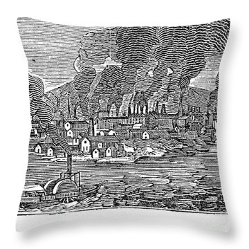 Pittsburgh, 1836 Throw Pillow by Granger