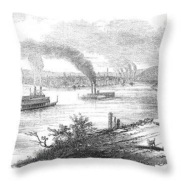 Pittsburgh, 1853 Throw Pillow by Granger