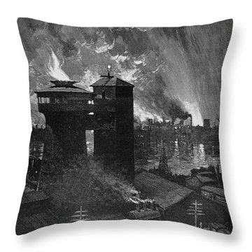Pittsburgh: Blast Furnaces Throw Pillow by Granger