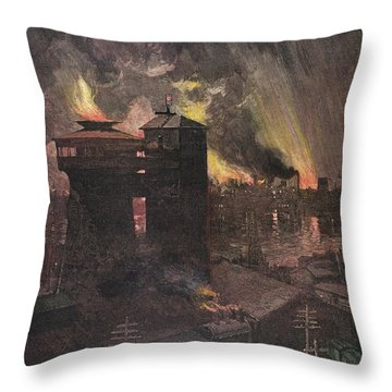 Pittsburgh: Furnaces, 1885 Throw Pillow by Granger