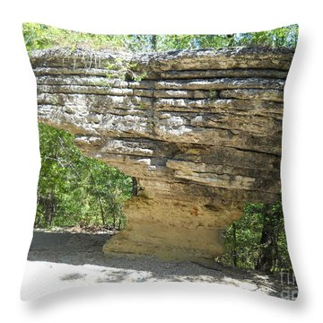 Throw Pillow featuring the photograph Pivot Rock by Mark McReynolds