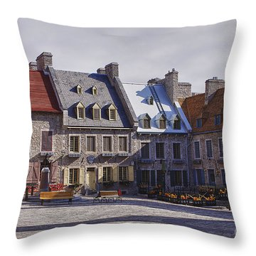 Place Royale Throw Pillow by Eunice Gibb