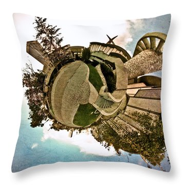Planet Lacma Throw Pillow