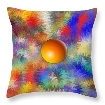 Throw Pillow featuring the digital art Planet Stand Out by Alec Drake