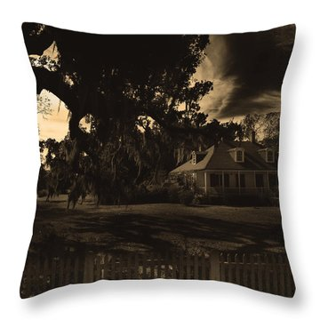 Plantation House  Throw Pillow by Maggy Marsh