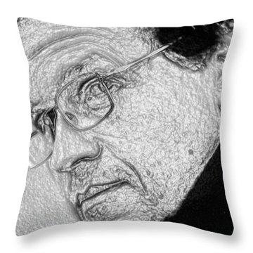 Plastic Man Throw Pillow by Robert Margetts