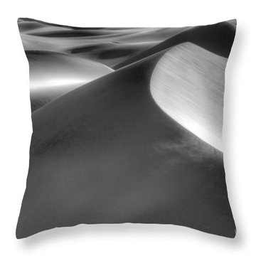 Platinum Dunes Throw Pillow by Bob Christopher