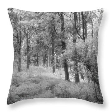 Platinum Forest Throw Pillow by Sarah Couzens
