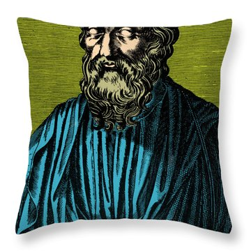 Plato, Ancient Greek Philosopher Throw Pillow by Photo Researchers